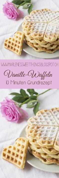 Vanille Waffeln - Rezept   - Kochen - Backen -