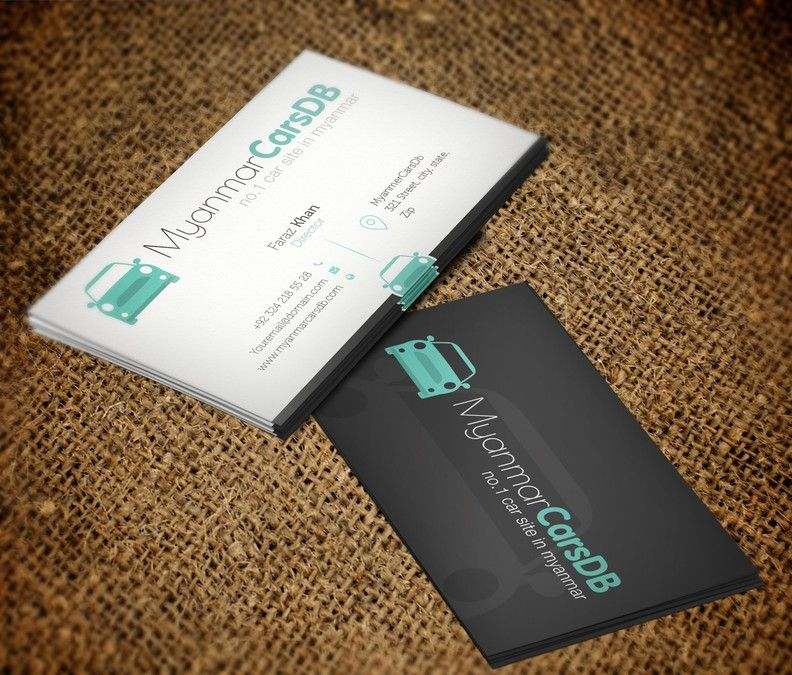 Online Car Classifieds Startup Business Card by Greenish Designs ...