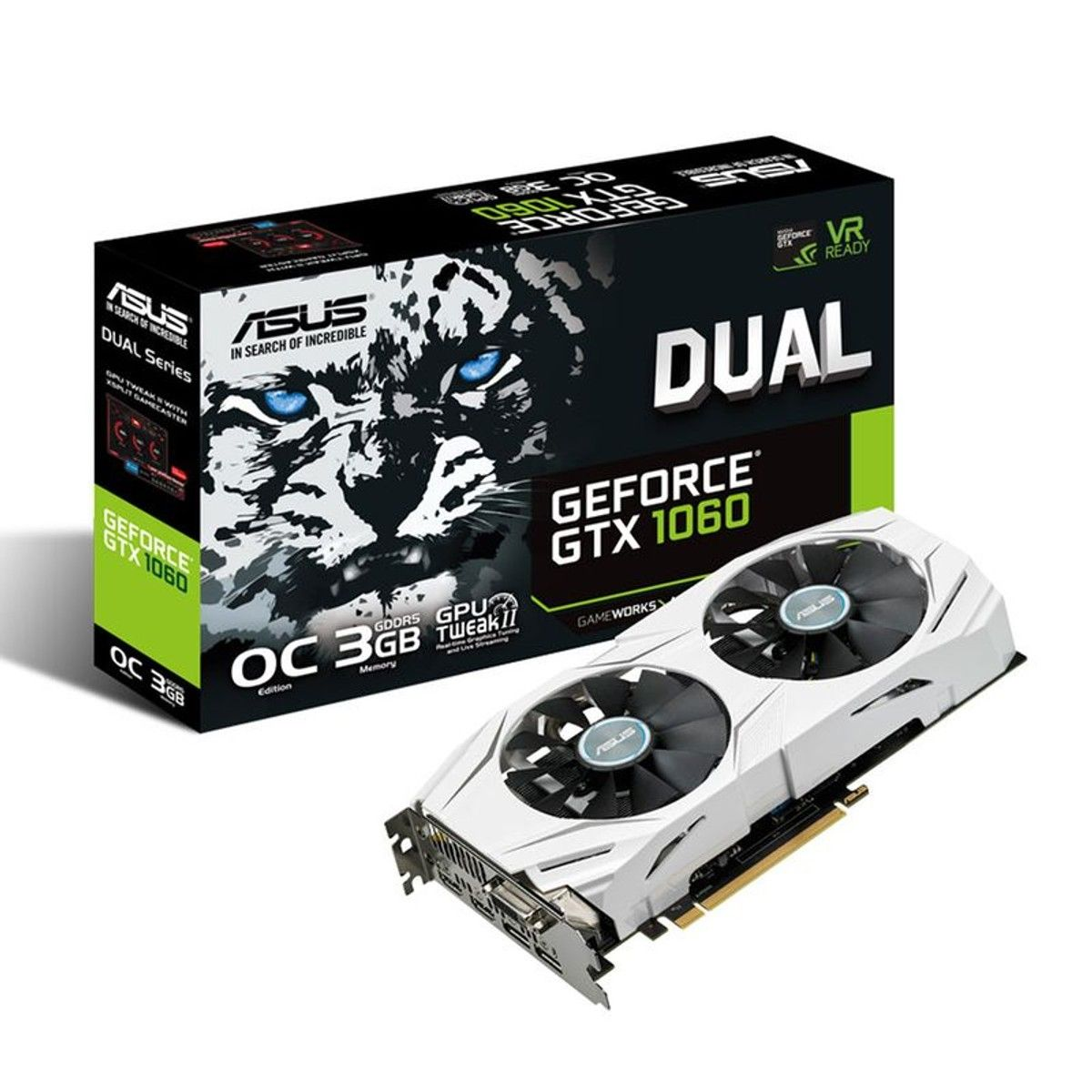 Carte Graphique Dual Gtx1060 O3g Geforce Gtx 1060 Oc Edition En