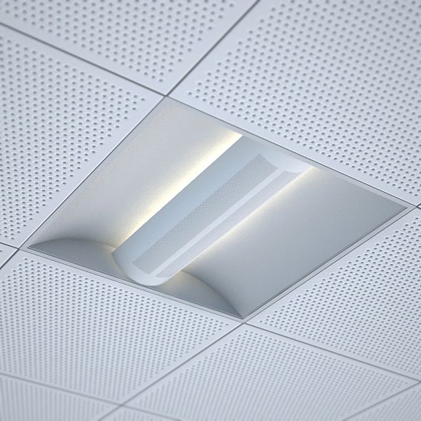 Elegant 3DOcean Office Recessed Ceiling Light 3D Models   Buildings And  Architecture 109164