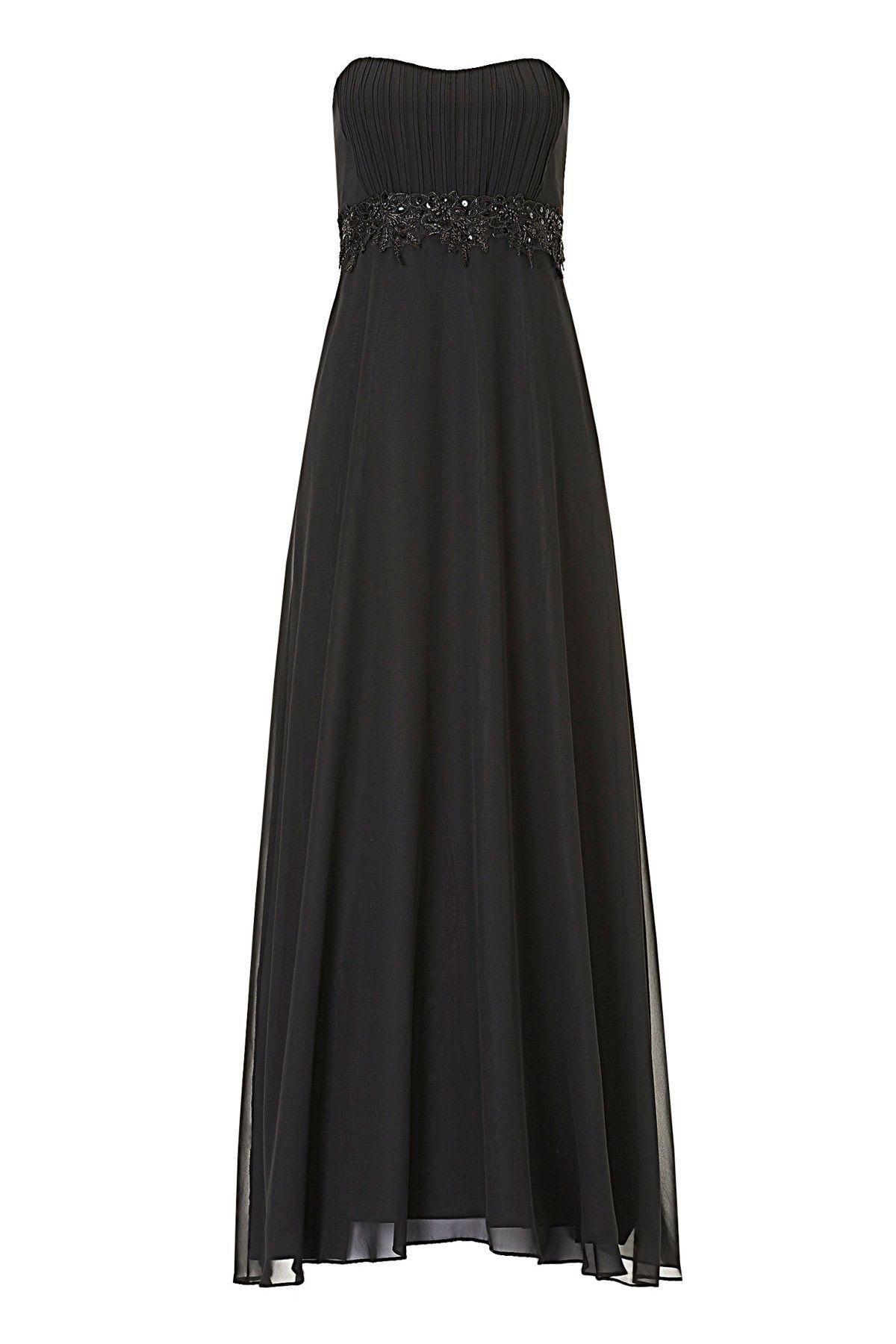 Abendkleid Chiffon schwarz Vera Mont in 18  Abendkleid, Kleider