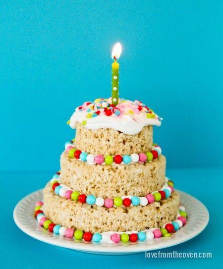Rice Krispies Treats Mini Cakes