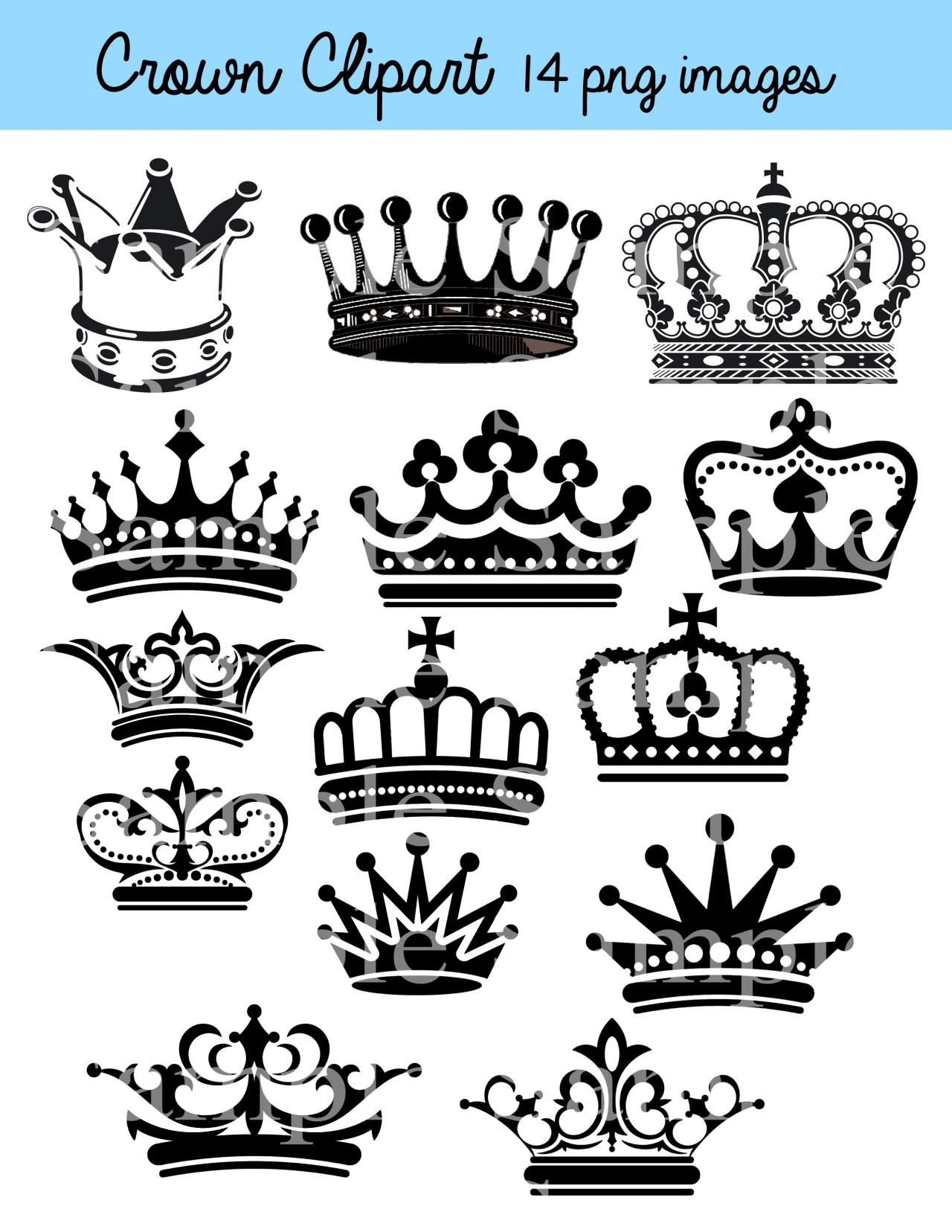 Crown Clipart Clip Art Crown Silhouette Clipart Clip Art Black Crowns Color Crowns Royal Clipart Princess Crowns Crown Clip Art Crown Silhouette Clip Art