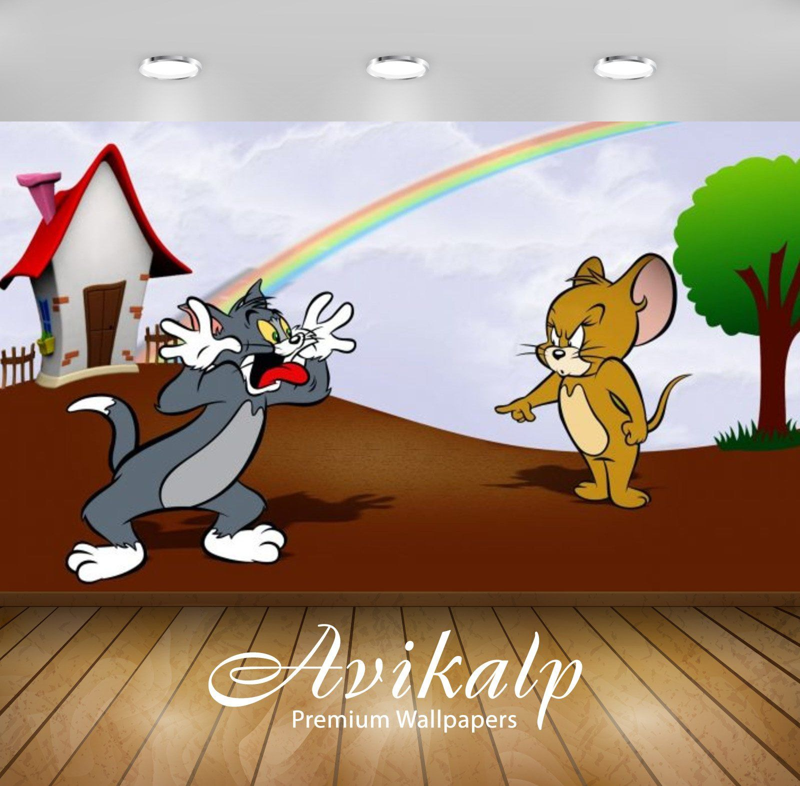 Avikalp Exclusive Awi2254 Tom And Jerry Cartoon Movie Full Hd Wallpapers For Living Room Hall Kids 3d Wallpaper Cartoon 3d Wallpaper Painting Kids Room Wallpaper