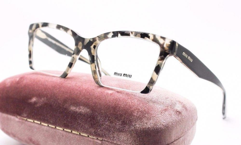 c5f26775242 Miu Miu VMU 04N DHE-1O1 White Havana Marble RX Eyeglasses 52mm NWC MU 04NV