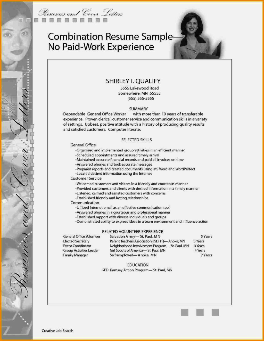 Best Resume Without Work Experience Sample Pictures >> Resume For ...