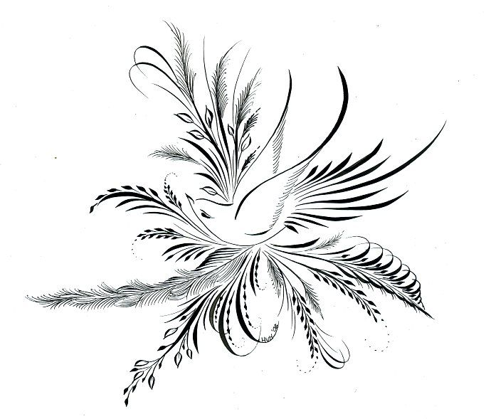 Ink Flourishes Sumi Bird Flourish Tattoo Ideas