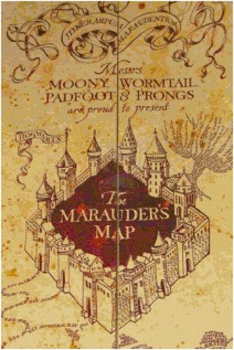 photograph regarding Marauders Map Printable Pdf named Harry Potters Marauders Map PDF Cross Sch Routine