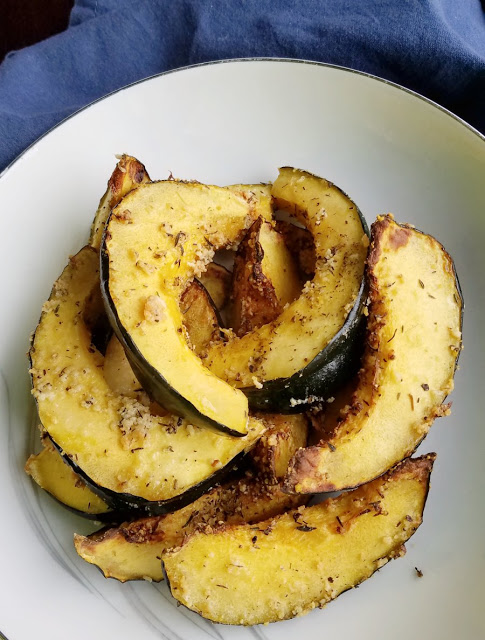 Flavorful And Easy This Parmesan Roasted Acorn Squash Comes