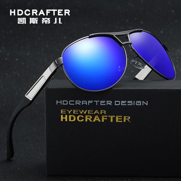 88a48d9730 FuzWeb Wholesale HDCRAFTER Aluminum Men s Polarized Sunglasses Driving  Glasses er Eyewear With Case