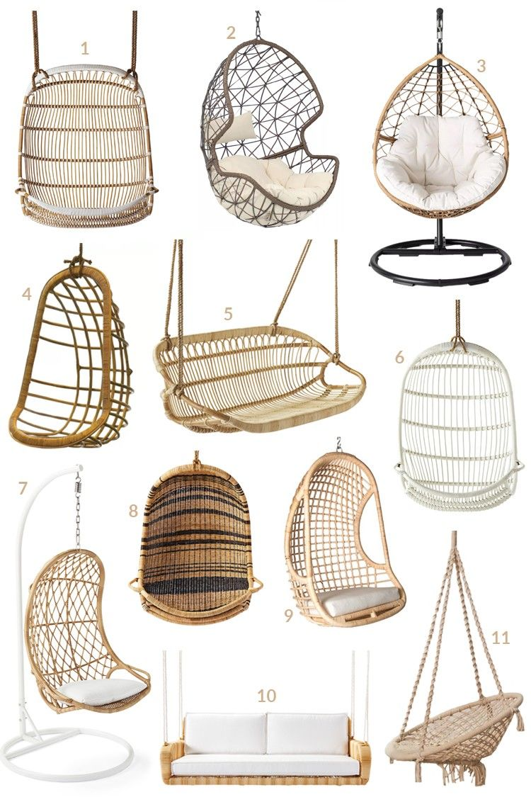 11 Gorgeous Hanging Chairs You Can Buy 17 Real Spaces Using Them In 2020 Hanging Chair Indoor Hanging Chair Chair