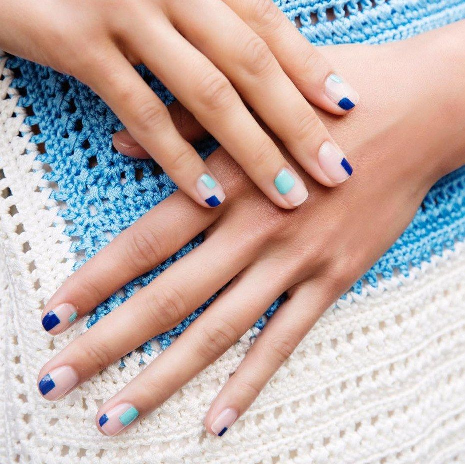 49 Mismatched Nail Art Ideas to Swoon Over This Summer | Glass, Nail ...