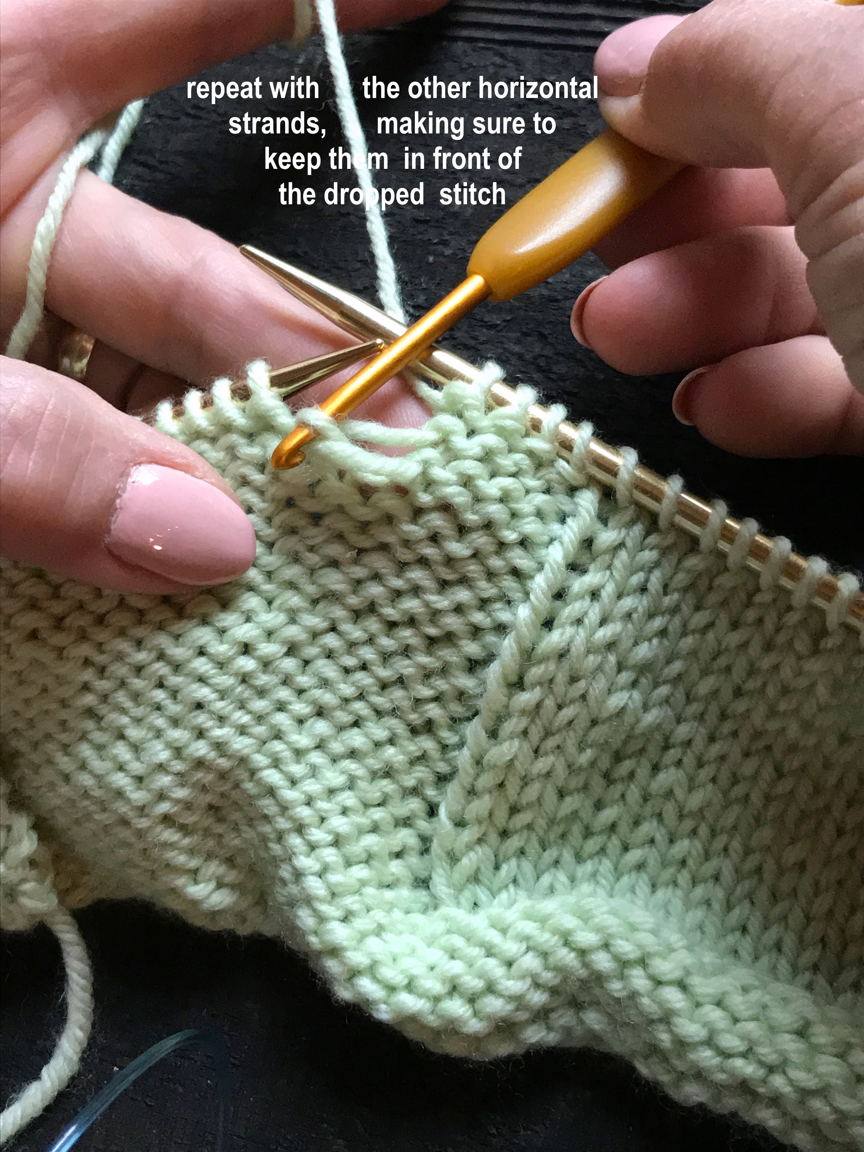 How to Pick Up Dropped Stitches in Your Knitting