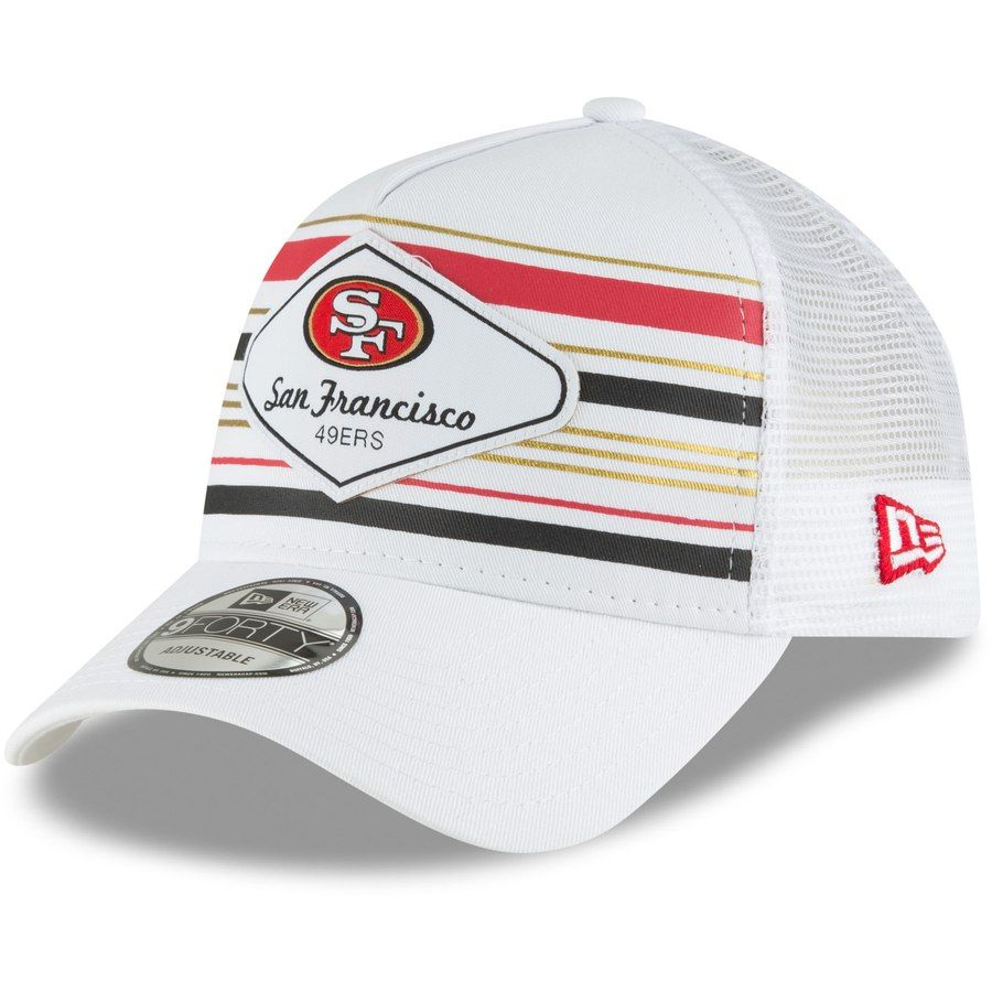 d2c85ee4e2f8cf Men's San Francisco 49ers New Era White Indo A-Frame 9FORTY Adjustable  Trucker Hat, Your Price: $24.99