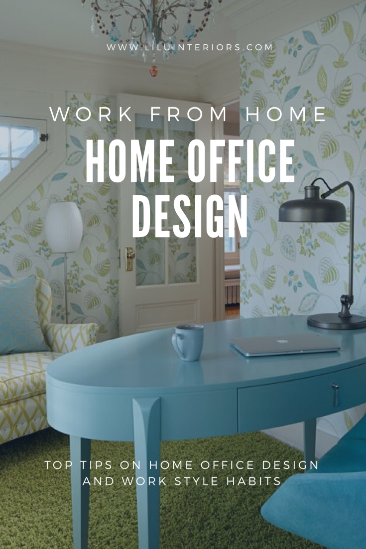 How To And Where To Set Up A Home Office That Will Function And Support Wellness While Working From Home And Tips On Working From Home And Being Productive And In 2020