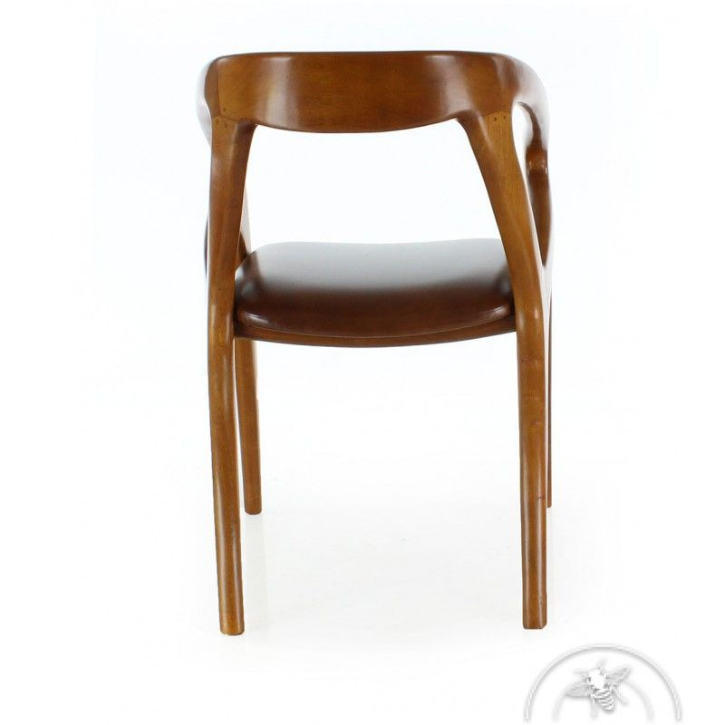 Chaise De Bureau Design Scandinave Cuir Marron Vintage Orsay Chaise De Bureau Design Chaise Design Chaise Bureau