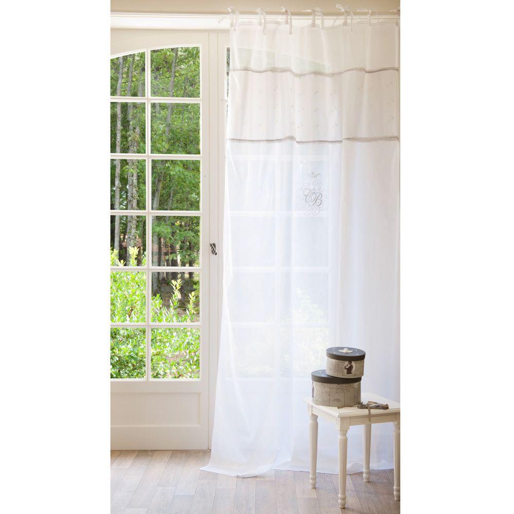 Cortina de nudos de lino blanco 140 x 250 cm habsbourg visillos y cortinas - Maison du monde draps ...