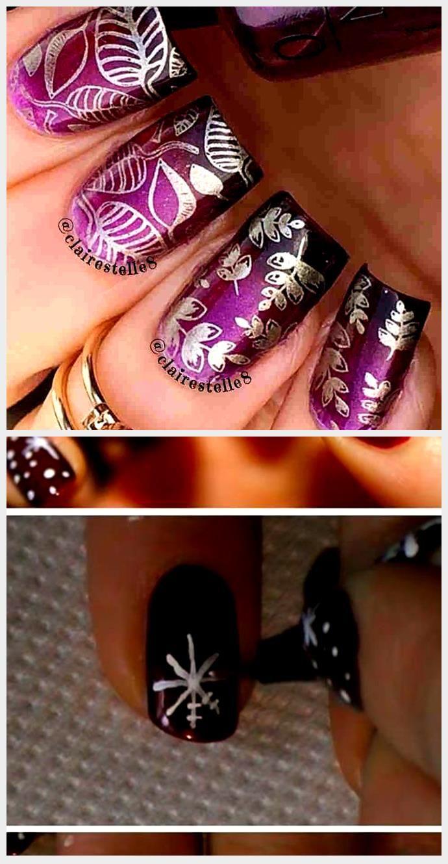 32 purple and burgundy nail designs for christmas holidays - howlives #burgandyna ...,  #burgandyna #Burgundy #Christmas #Designs #holidays #howlives #Nail #purple
