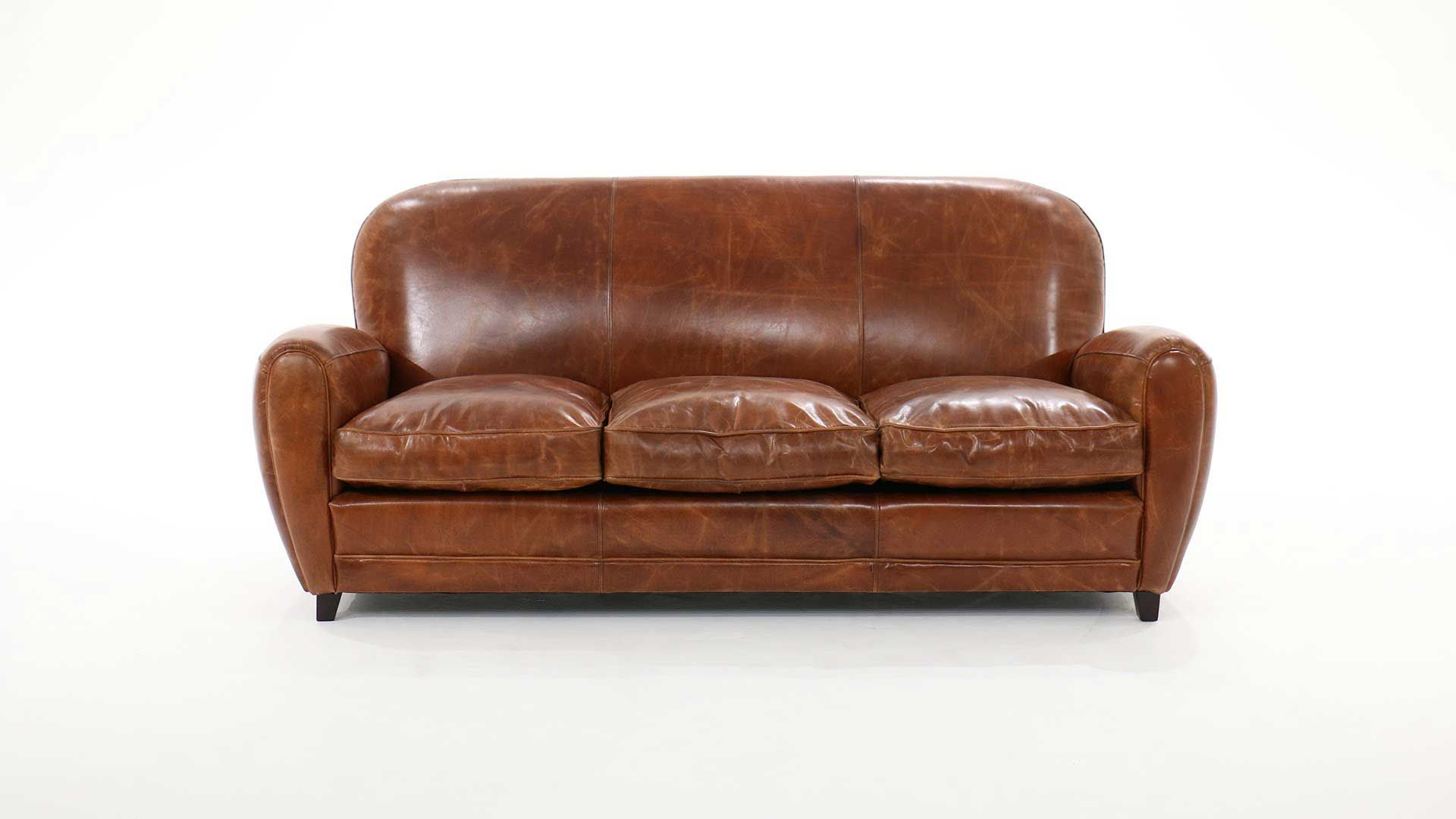 Cuir Salon Buffle Cana Places Chesterfield Vintage Convertible