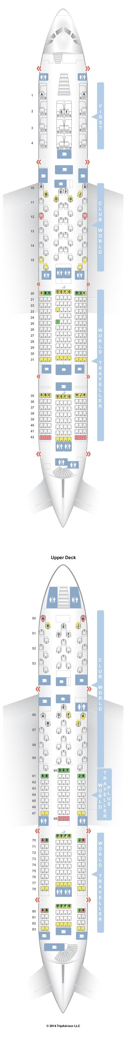 SeatGuru Seat Map British Airways Airbus A380-800 (388 ...