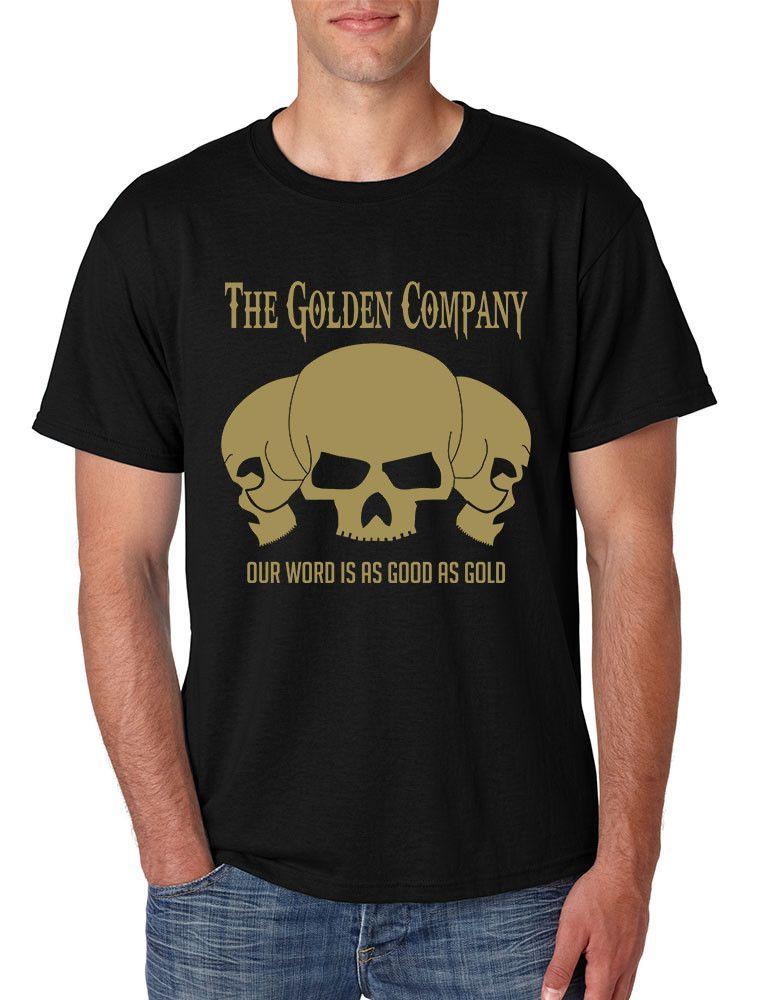 5b42ff1ac33cf Fear cuts deeper than swords Valar Morghulis Valar Dohaeris men t-shirt  fantasy shirt three Golden skulls Harry Strickland skull Beneath the gold