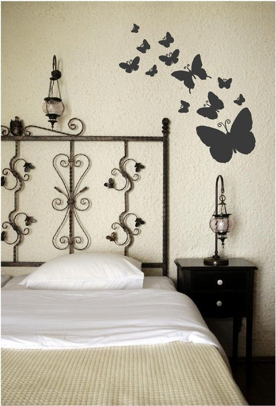 Butterflies in Bedroom Wall Art | Butterfly bedroom ...