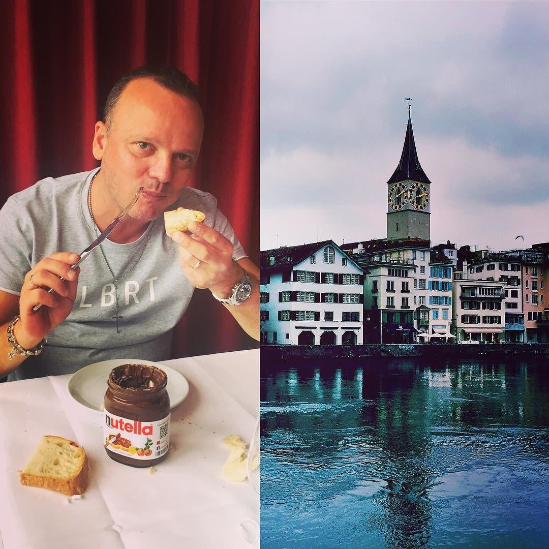 """#GigiDAlessio Gigi D'Alessio: Un saluto dalla splendida #Zurigo!!! Mentre mi tolgo uno sfizio """"goloso"""" vi do appuntamento a stasera al Volkshaus per un altro concerto del #MalaterraWorldTour.... Vi aspetto!!!!! #Malaterra #CampaniaSiCura"""