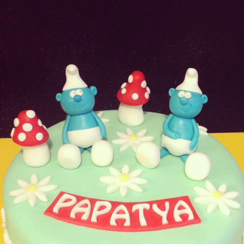 The Smurfs Birthday Cake Cakes Pinterest Smurfs Birthday