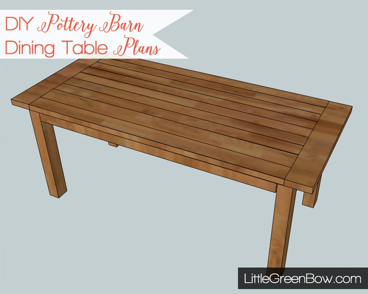 Diy Pottery Barn Dining Table Plans Modeled After The Hyde Dining Amazing Dining Room Tables Plans Review