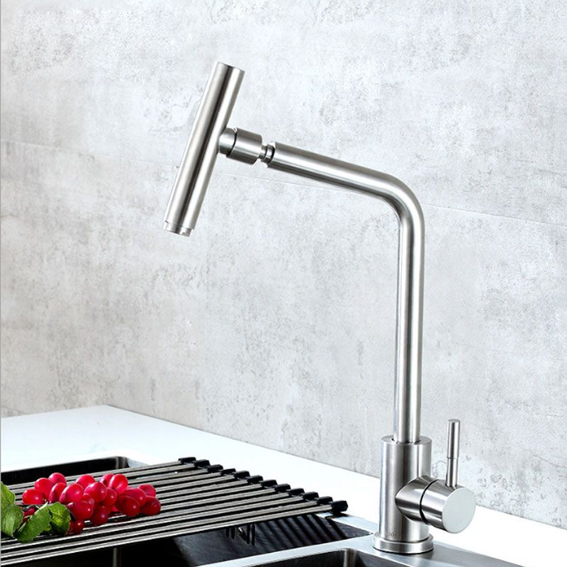 Sus304 Stainless Steel Wire Drawing Universal Dishwasher Sink Faucet Kitchen Single Hole Hot And Cold Water Faucet Attention Valid Discount 0 Buy Now