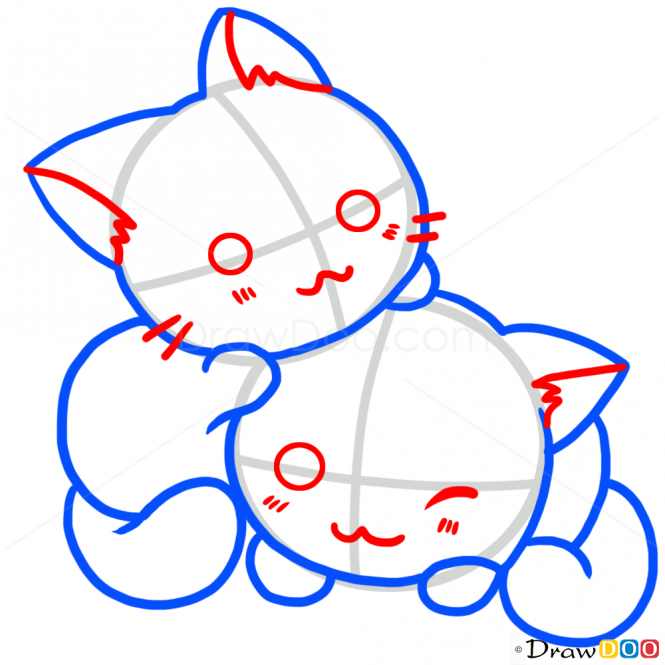 How To Draw Playing Kittens Cats And Kittens Kitten Drawing Drawing Tutorial Cat Drawing Tutorial