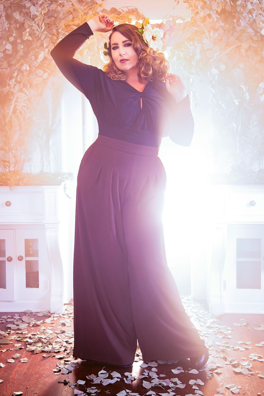 Laura Byrnes California Plus Size Doris Pants in Chocolate Brown ...