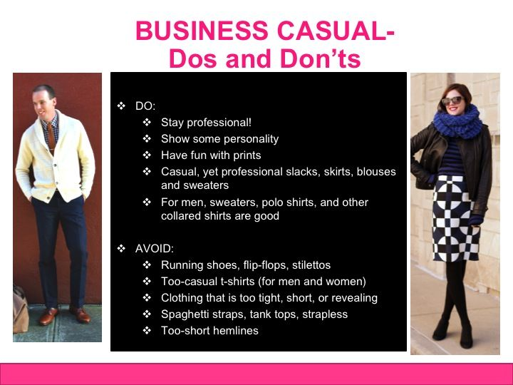 Business Casual Dress Code Dos And Don Ts With Images Business