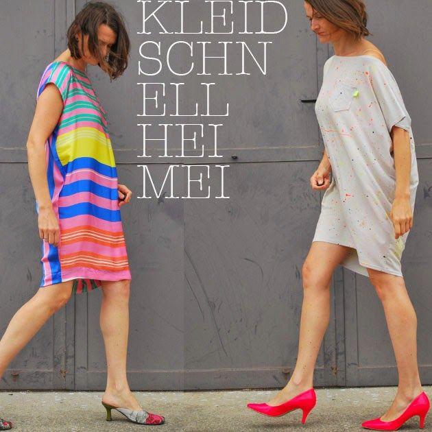 Kleid, schnell...Heimei   Baumwoll Popeline - Ideen   Pinterest ...