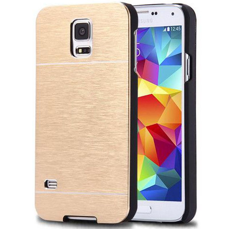 S5Mini Case Deluxe Aluminum Metal PC Brush Hard Hybrid Phone Cases Back Cover For Samsung Galaxy S5 Mini Brushed Coque Capa