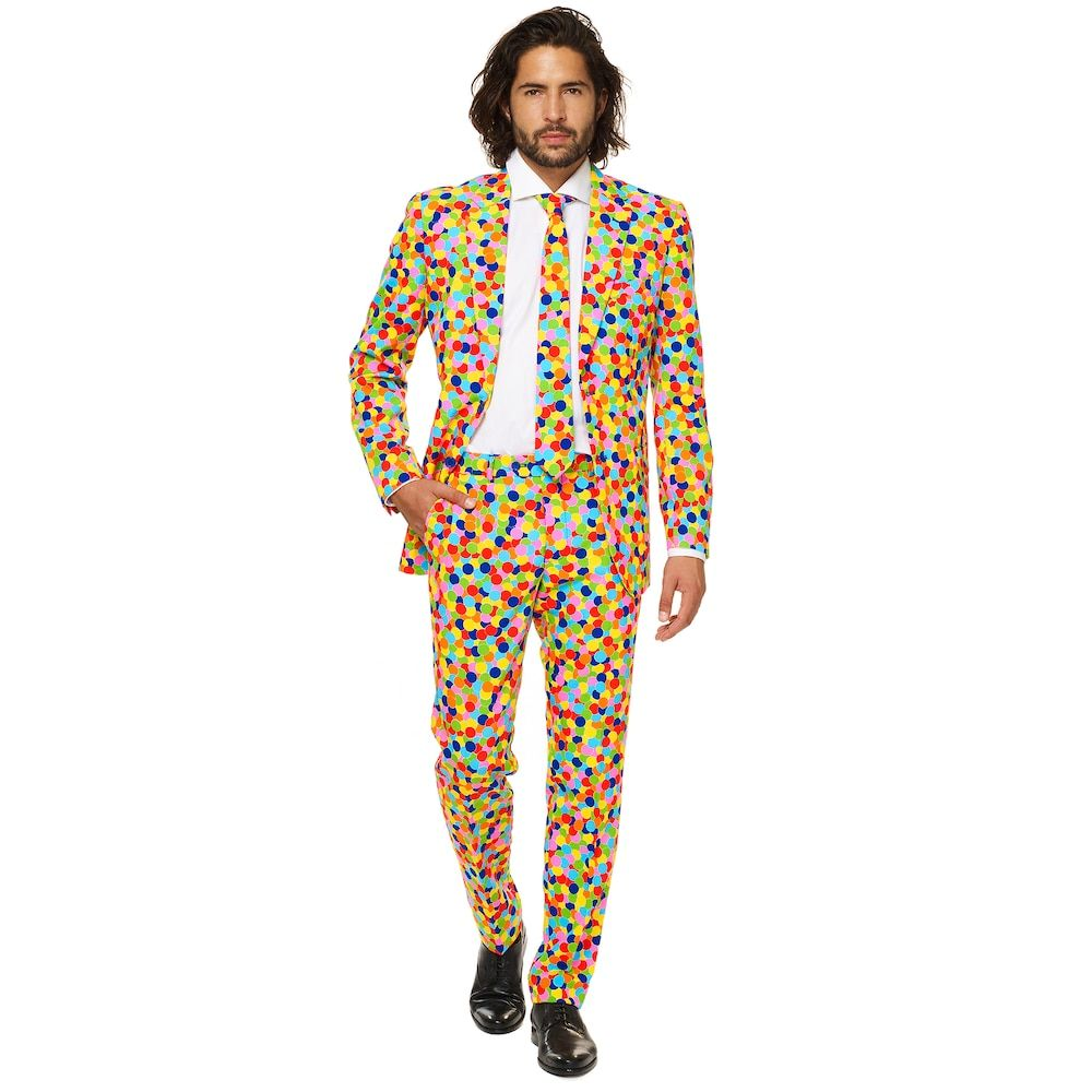 fa55fd7dc595 Men's OppoSuits Slim-Fit Confetteroni Novelty Suit & Tie Set, Size ...