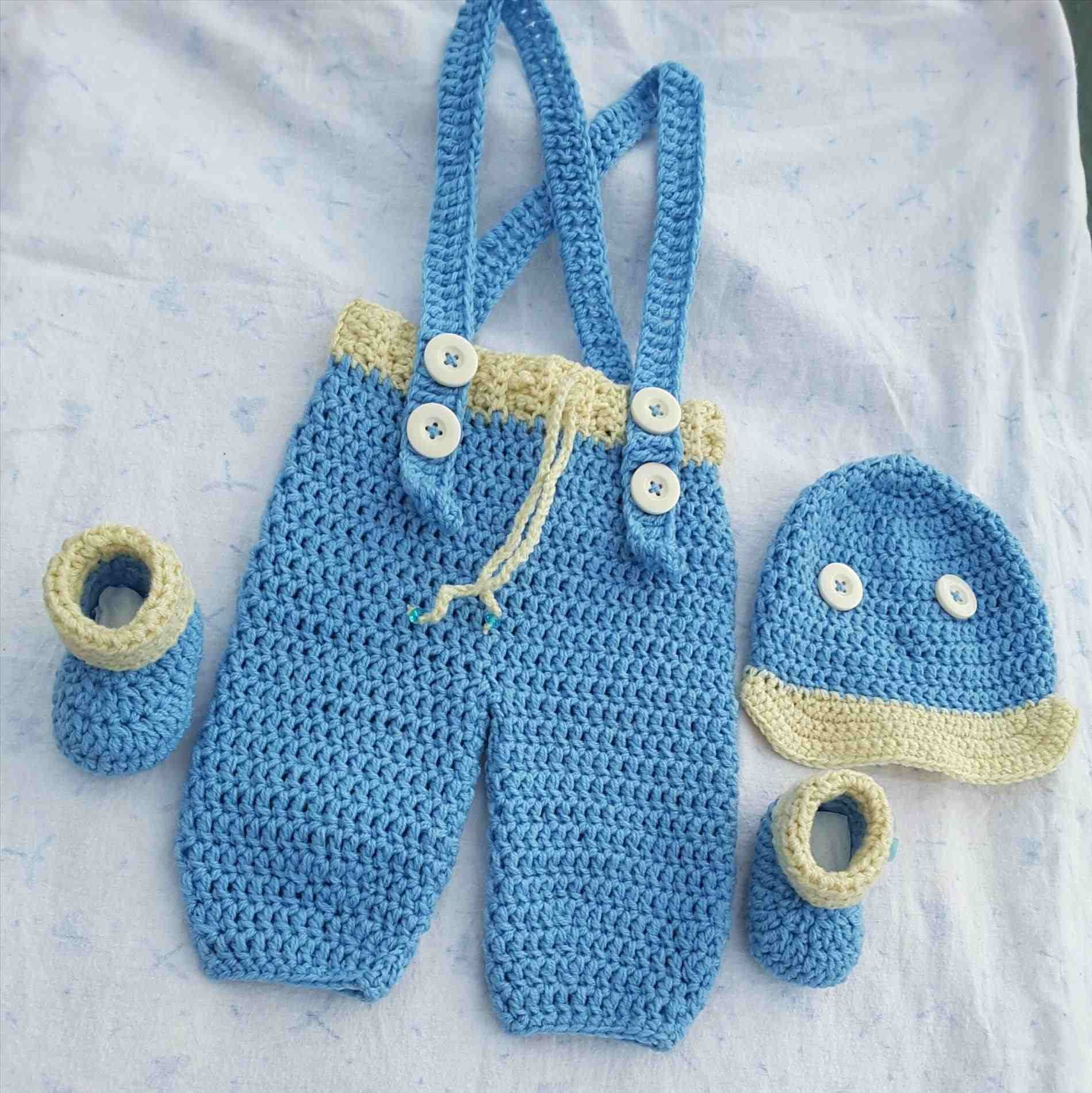 5d25faa944f Crochet Baby Jumpsuit - diaper dress set for baby girl with booties ...