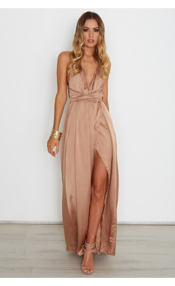 4c786139192a Akela Maxi Dress Bronze - Dresses - Clothing | Prom dress inspo in ...
