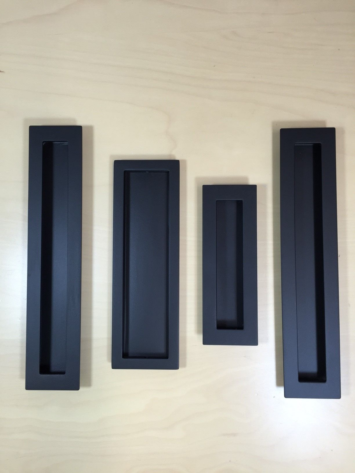 Sliding Door Hardware Flush Pulls in different shapes and sizes