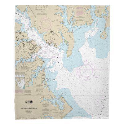 Longshore Tides Ellisburg Annapolis Harbour Md Fleece Throw Nautical Chart Annapolis Harbor Poster Prints