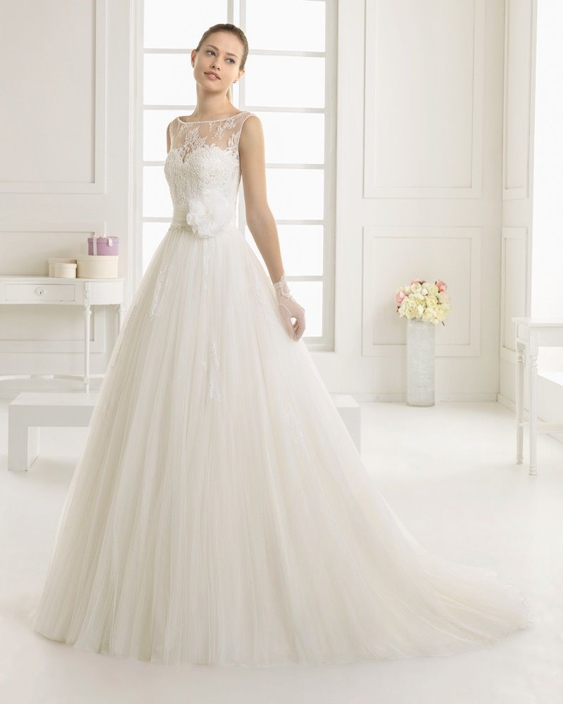 Ecru wedding dress  Two By Rosa Clara  Bridal Collection  Beautiful Designer