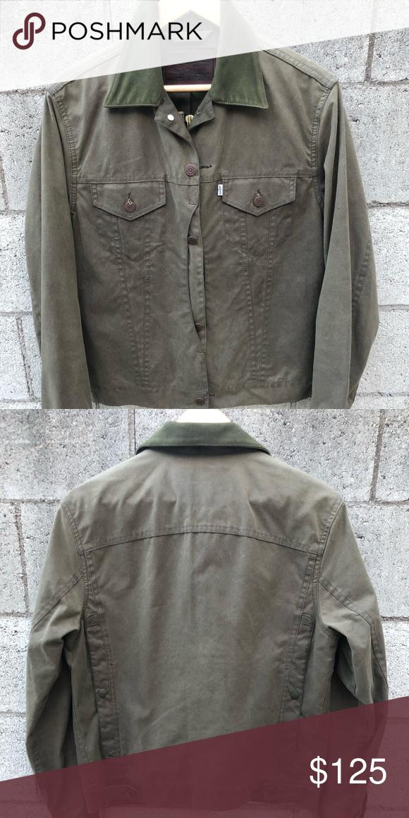 5ab574cb9 Levi's/Filson Trucker jacket Green Men's SMALL Levi's/Filson Trucker ...