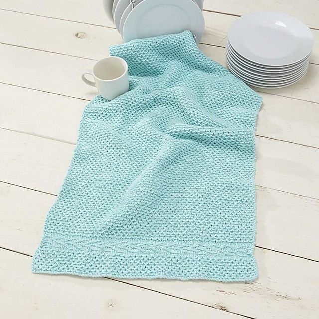 Ravelry: Slip Stitch Dish Towel pattern by Willow Yarns Design Team ...