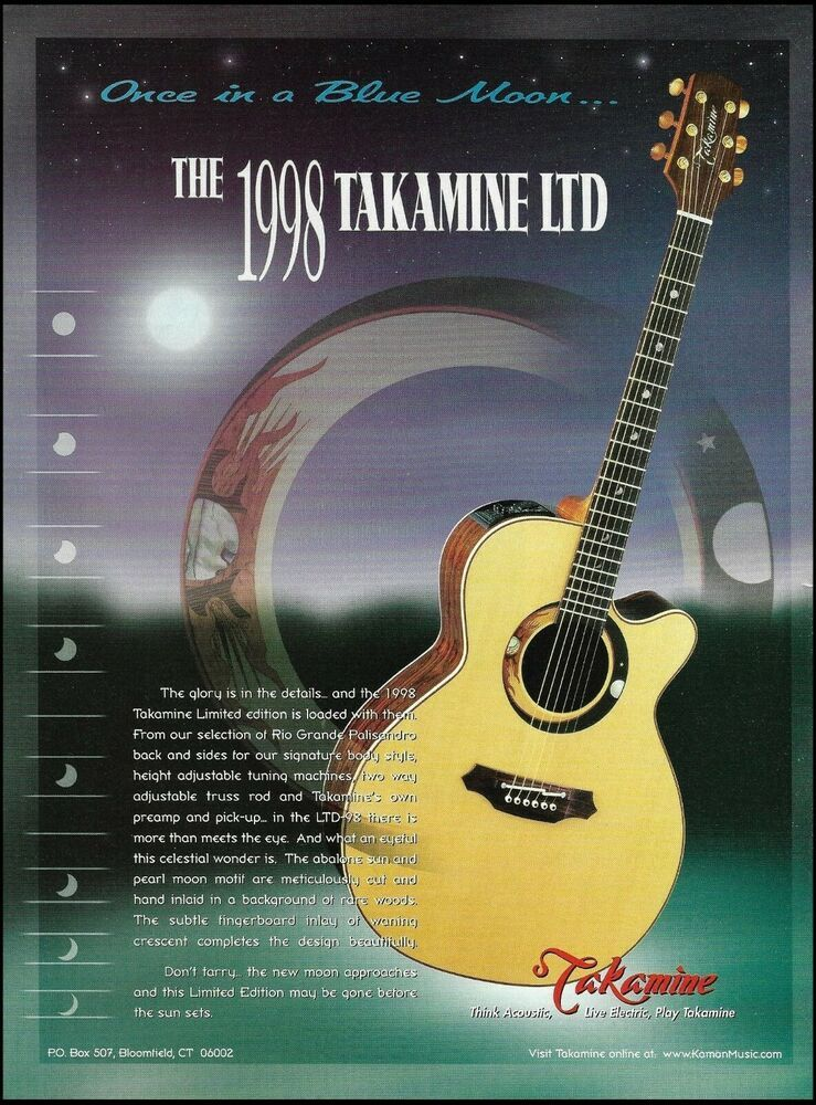 1998 Takamine Ltd 98 Collectors Edition Series Guitar Advertisement 8 X 11 Ad Takamine In 2021 Takamine Guitars Guitar Acoustic Guitar