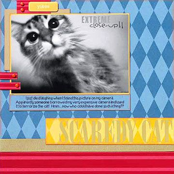 Cat Scrapbooking Ideas Scrapbook Techniques Pinterest