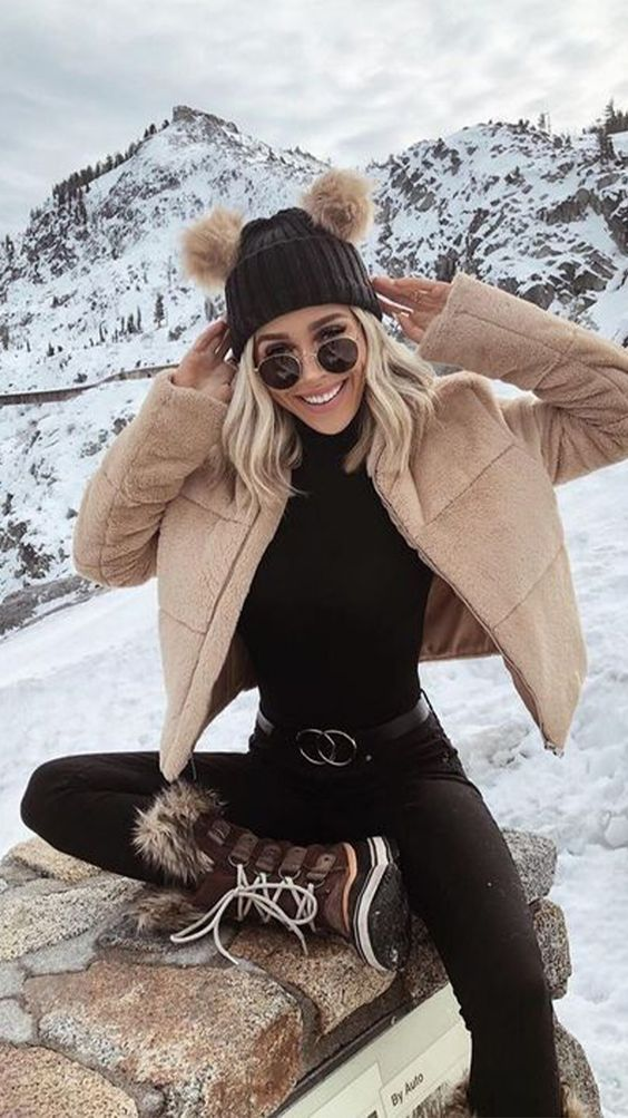 The best cute ski outfits for women style, snowboarding outfits for women, snow outfits for women cold weather and cute winter
