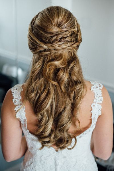 Olivia And Lou S Wedding In Essex Maryland Braided Hairstyles For Wedding Summer Wedding Hairstyles Wedding Hair And Makeup