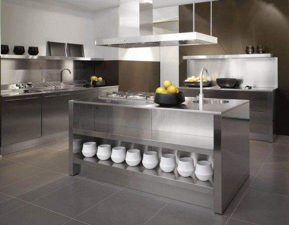 Edelstahl Küchen Designs #designs #edelstahl #kuchen #kuchendesigns