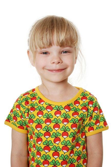 313da315 Yellow Radish Short Sleeve Shirt made from 100% GOTS Certified Organic  Cotton. By DUNS Sweden offered by Modern Rascals.