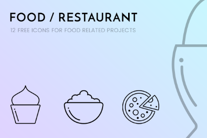 Free Design Reources Restaurant Icon Free Icon Set Design Freebie